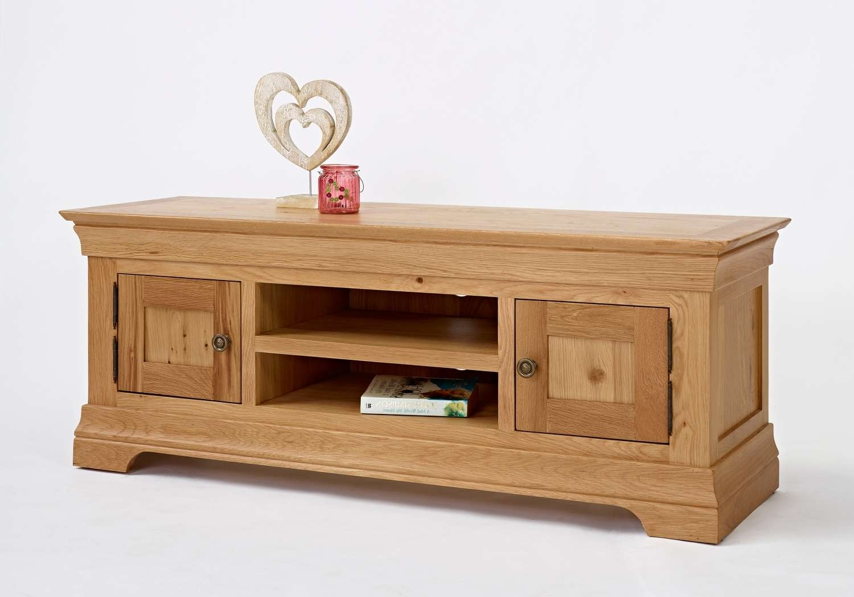 Wimereux Oak Large Tv Unit, Uniques Furniture Shop Intended For Long Oak Tv Stands (View 8 of 20)