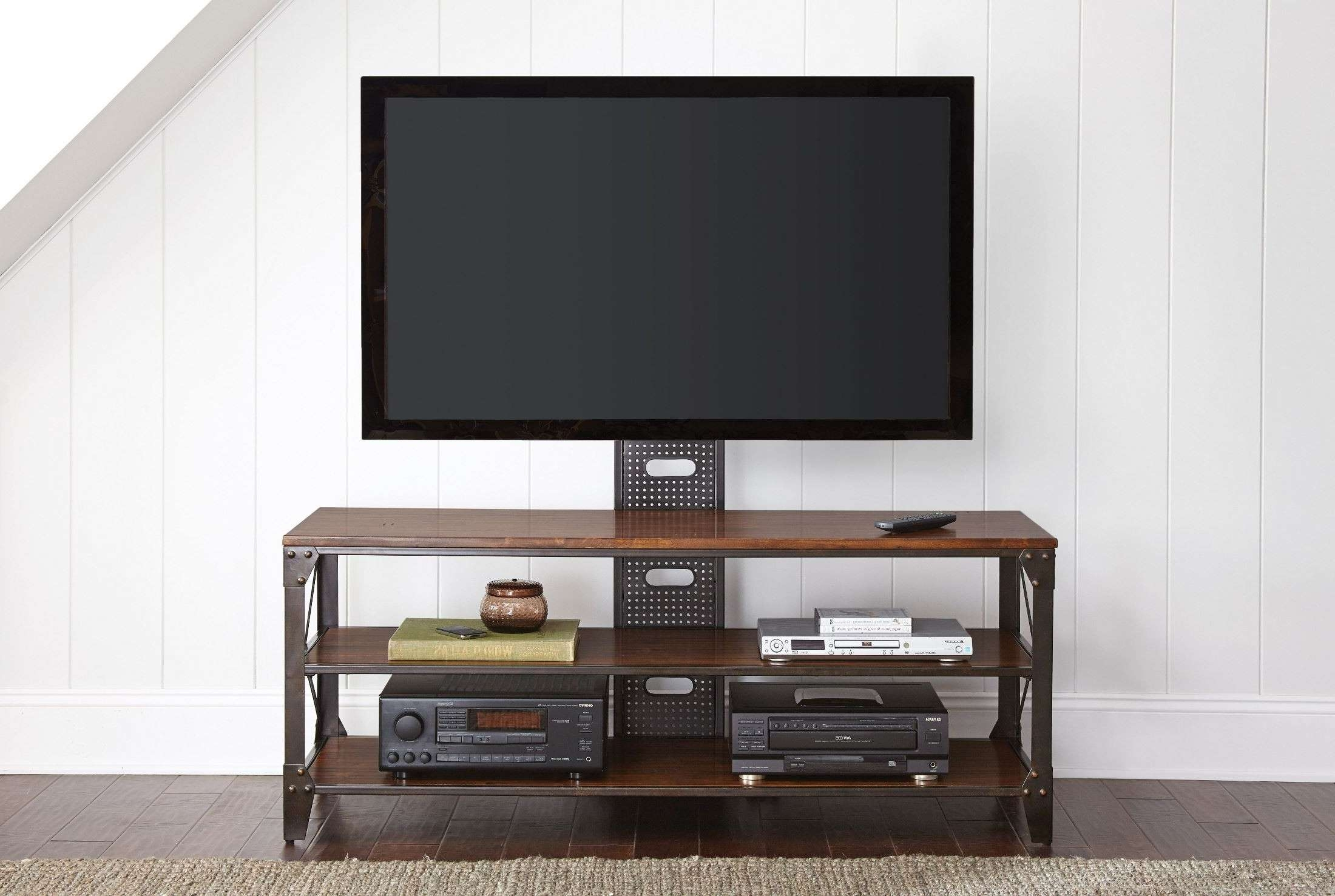 Winston Industrial Tv Stand From Steve Silver (wn500tv) | Coleman Pertaining To Industrial Tv Stands (View 3 of 15)
