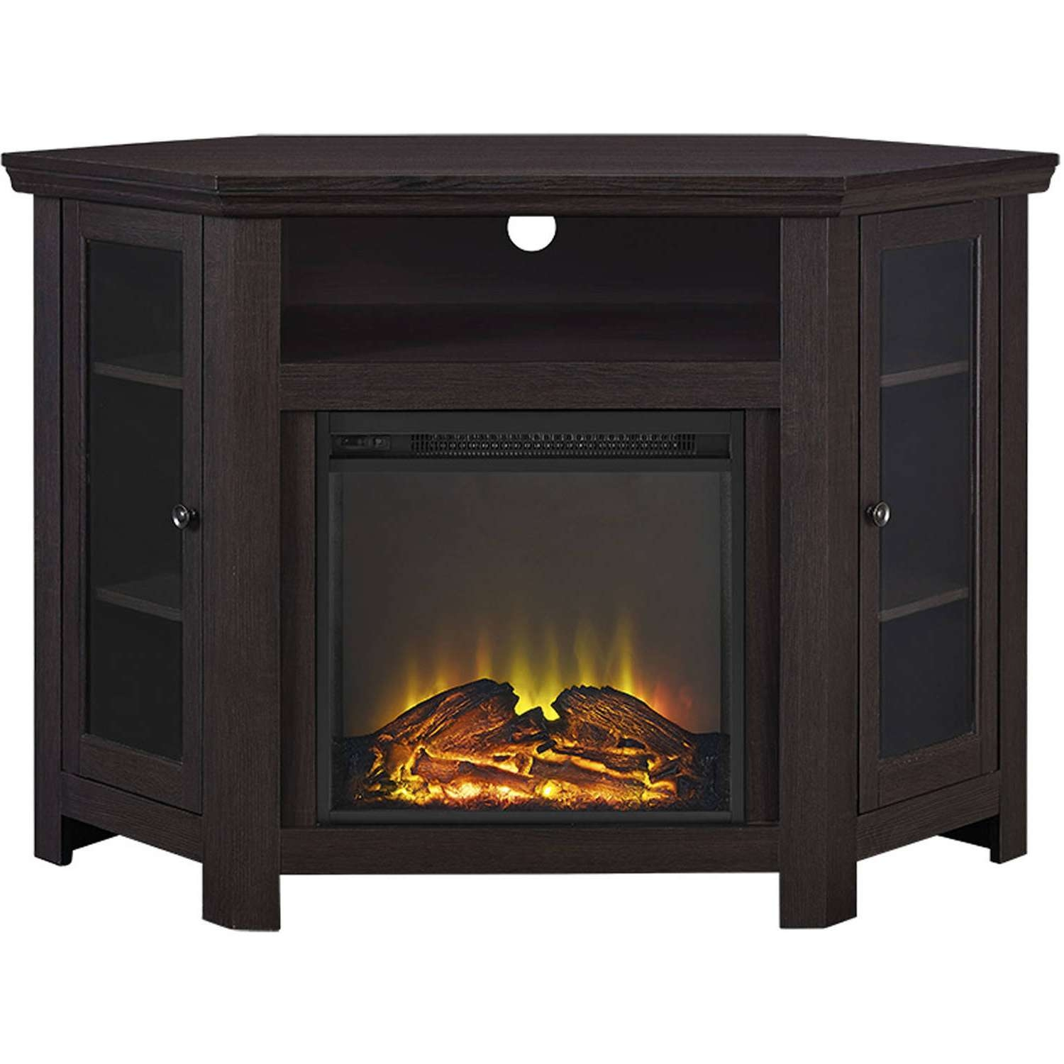 """Wood Corner Tv Fireplace Tv Stand For Tvs Up To 52"""", Multiple Throughout Wooden Corner Tv Stands (View 16 of 20)"""