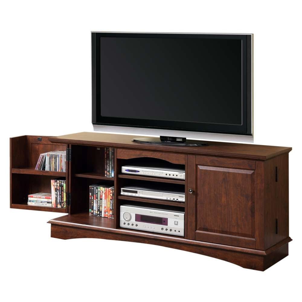 Wood Entertainment Center Side Cabinets Wd Media Storage Furniture Regarding Low Long Tv Stands (View 4 of 15)