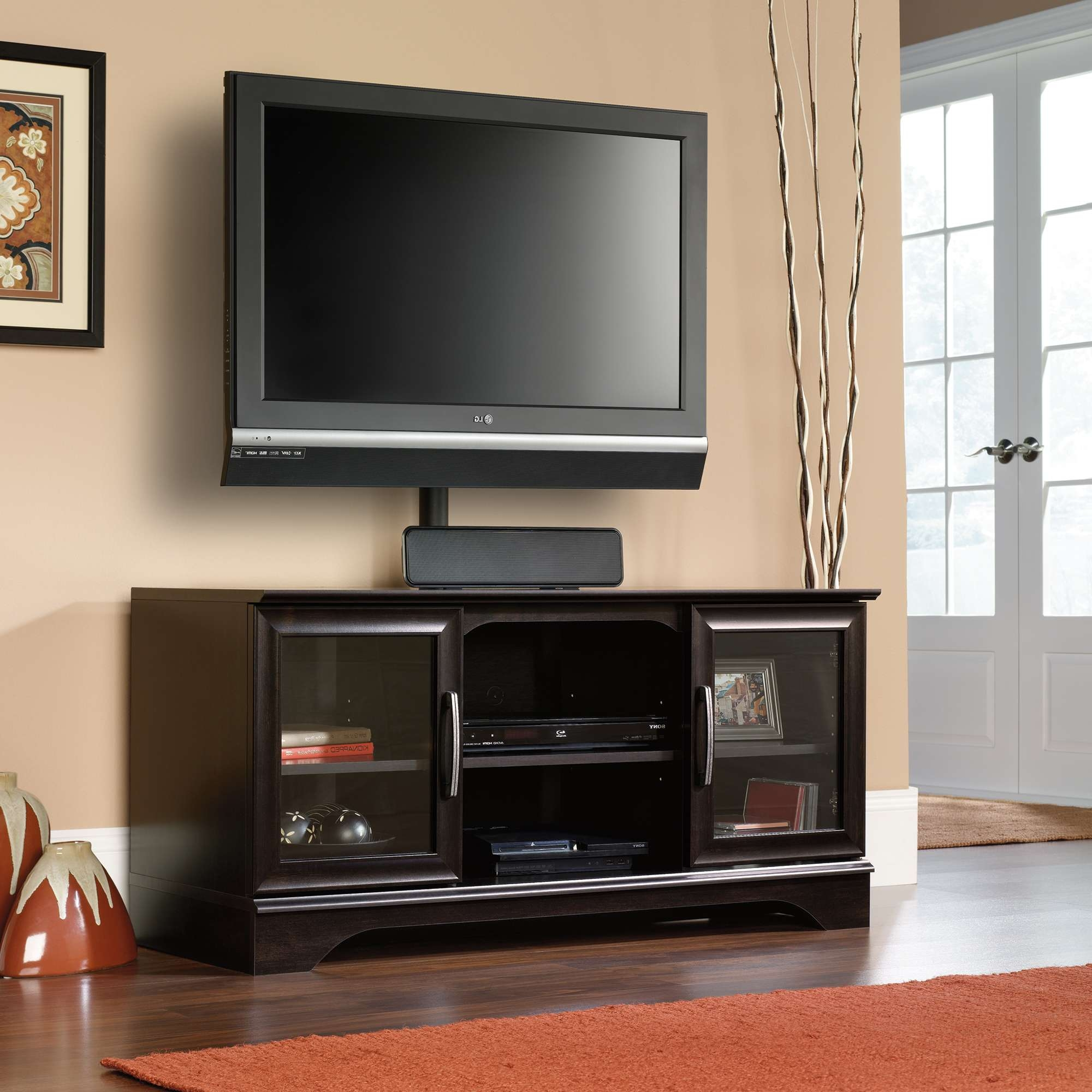 Wood Tv Standh Mount Solid Mountwood Swivel Storage Stands Flat Intended For Solid Wood Black Tv Stands (View 15 of 15)