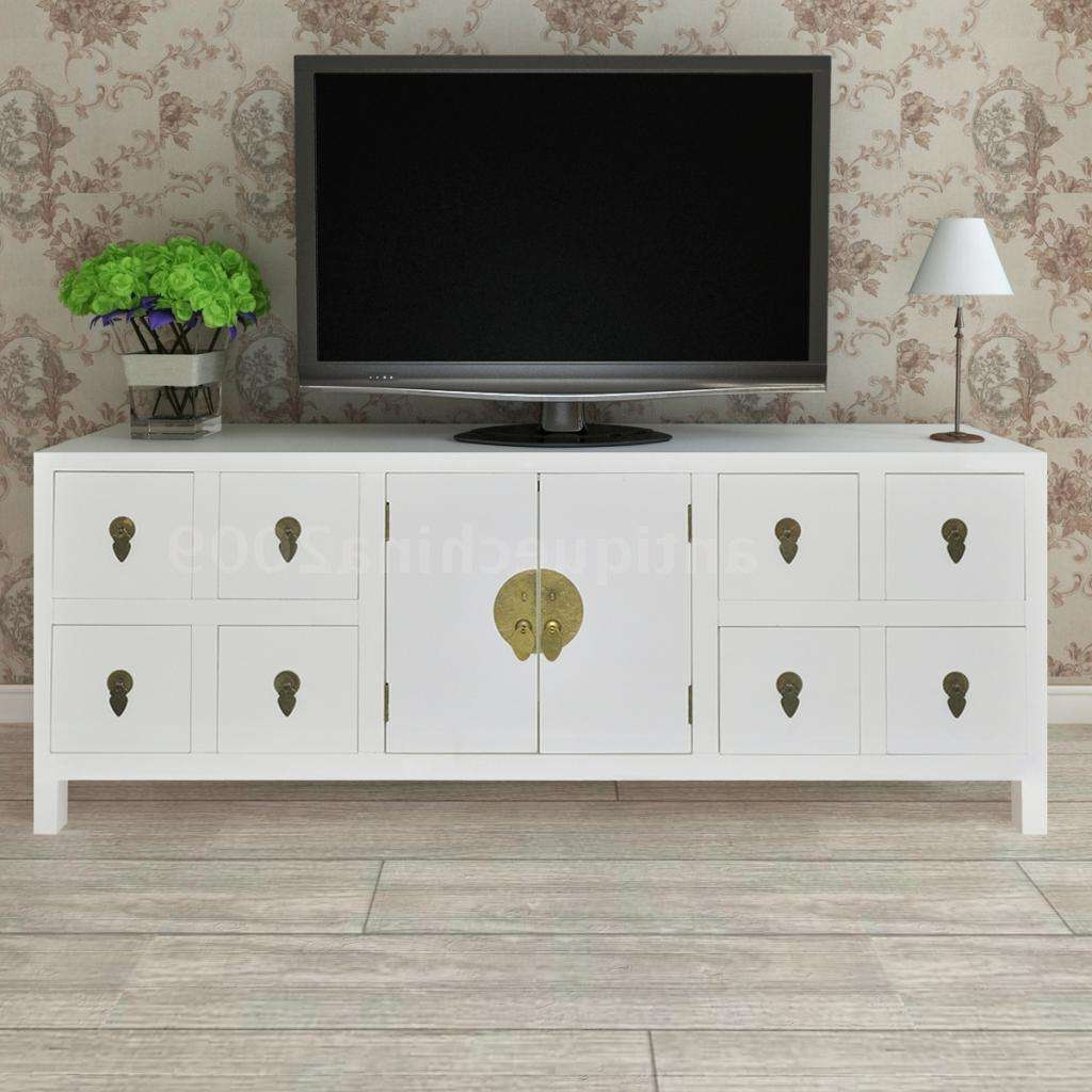 Wooden Asian Sideboard Tv Cabinet 8 Drawers And 2 Doors Furniture Within Sideboard Tv Stands (View 10 of 20)