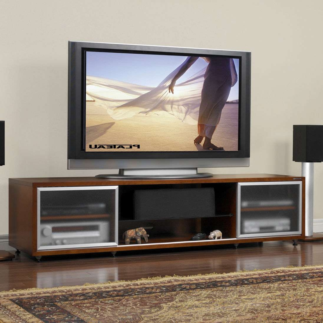 Wooden T V Stand Design Wood Tv Designs Stands Home Furniture And In Wooden Tv Stands With Glass Doors (View 10 of 15)