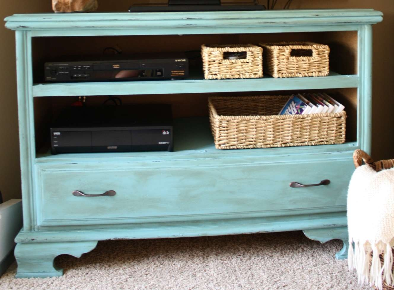 Woodwork Do It Yourself Tv Stand Plans Pdf Plans With Regard To Blue Tv Stands (View 15 of 15)