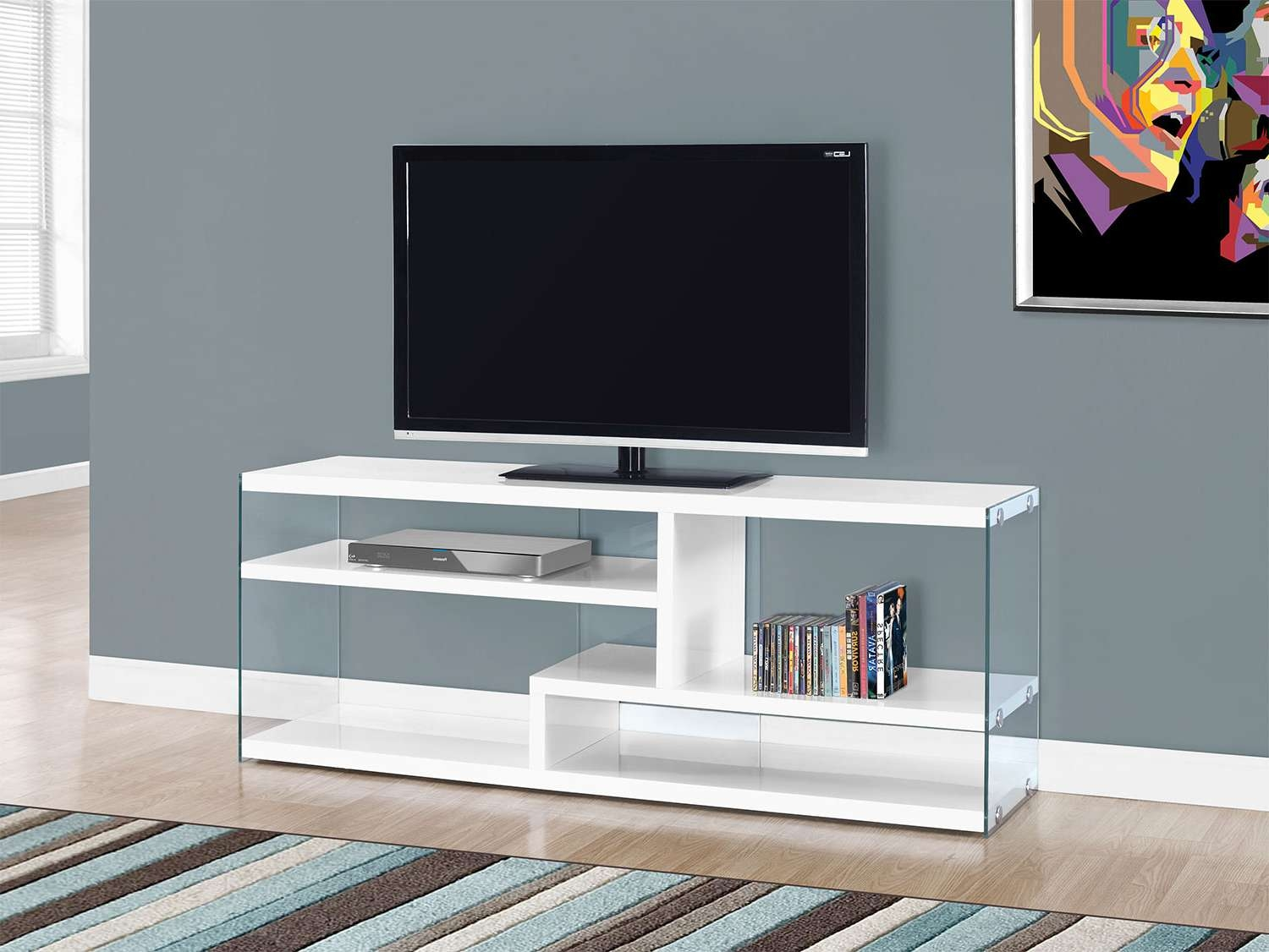 Zara Tv Stand – White | Leon's Throughout White Glass Tv Stands (Gallery 13 of 15)