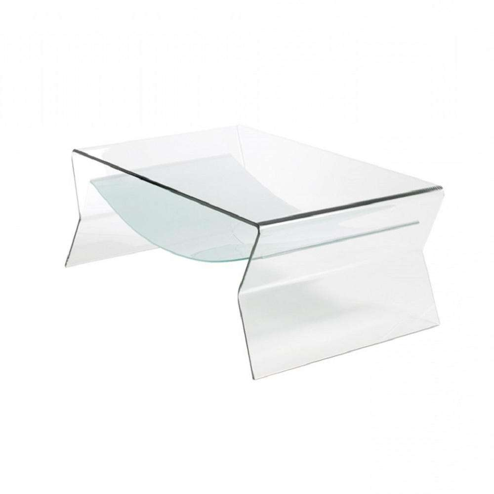 1/2 In. Thick Bent Glass Side Table With Shelf St016 – The Home Depot With Latest Glass Coffee Table With Shelf (Gallery 16 of 20)
