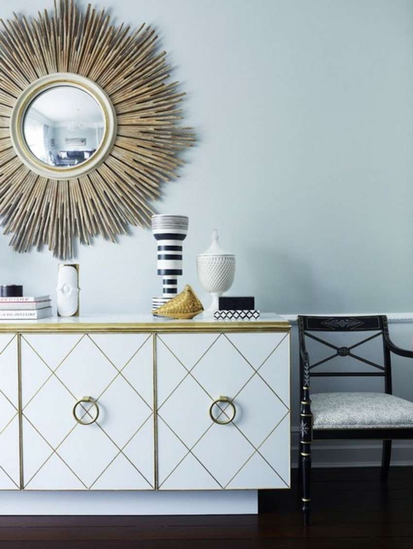 10 Perfect Ways To Combine Sideboards With Wall Mirrors With Mirror Sideboards (Gallery 16 of 20)