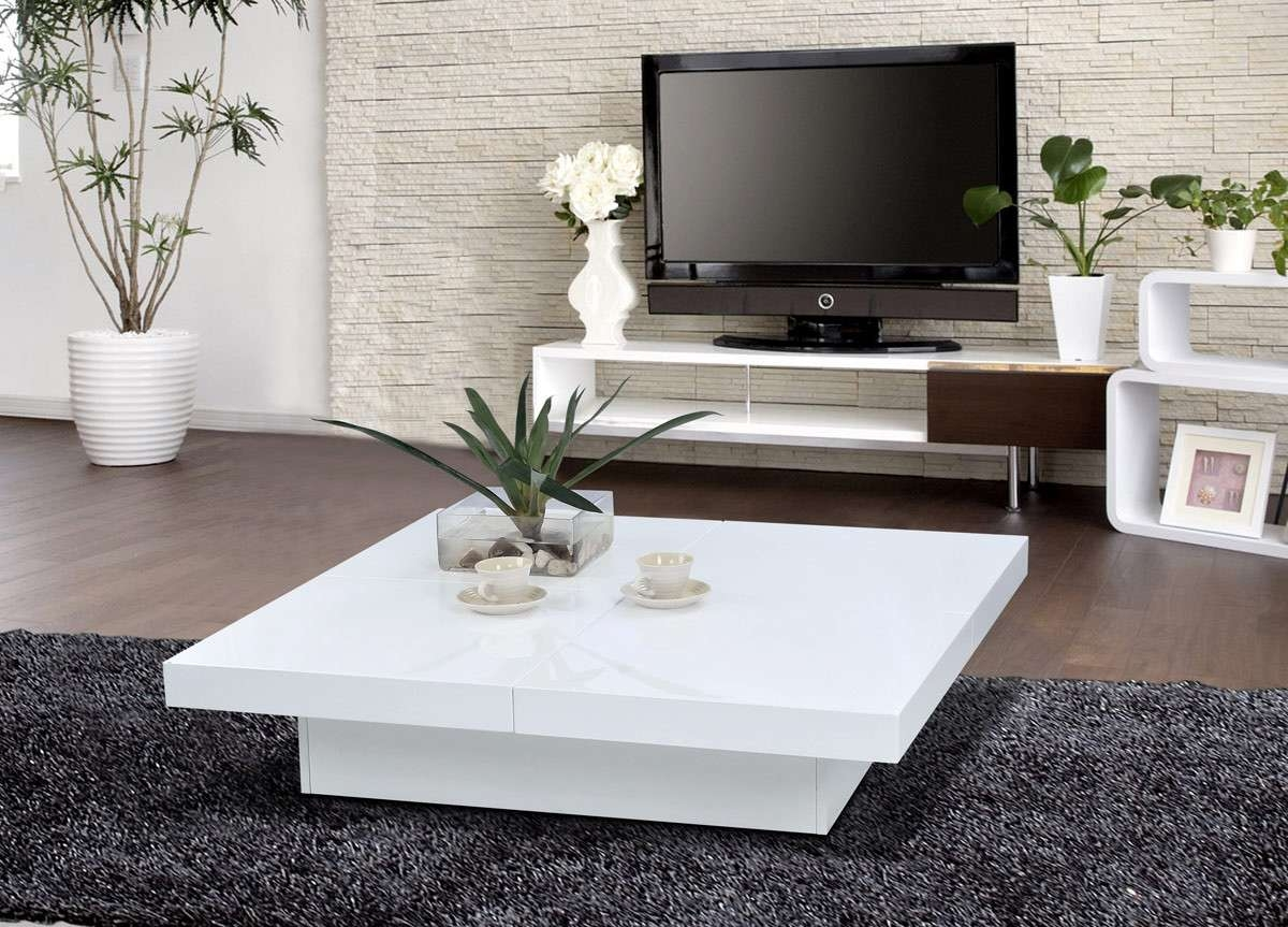 1005c Modern White Lacquer Coffee Table In Most Recent Lacquer Coffee Tables (View 4 of 20)