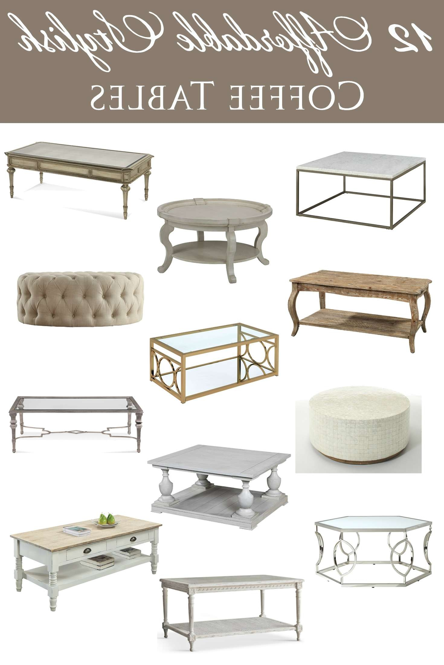 12 Affordable Stylish Coffee Tables Throughout Popular Stylish Coffee Tables (View 1 of 20)