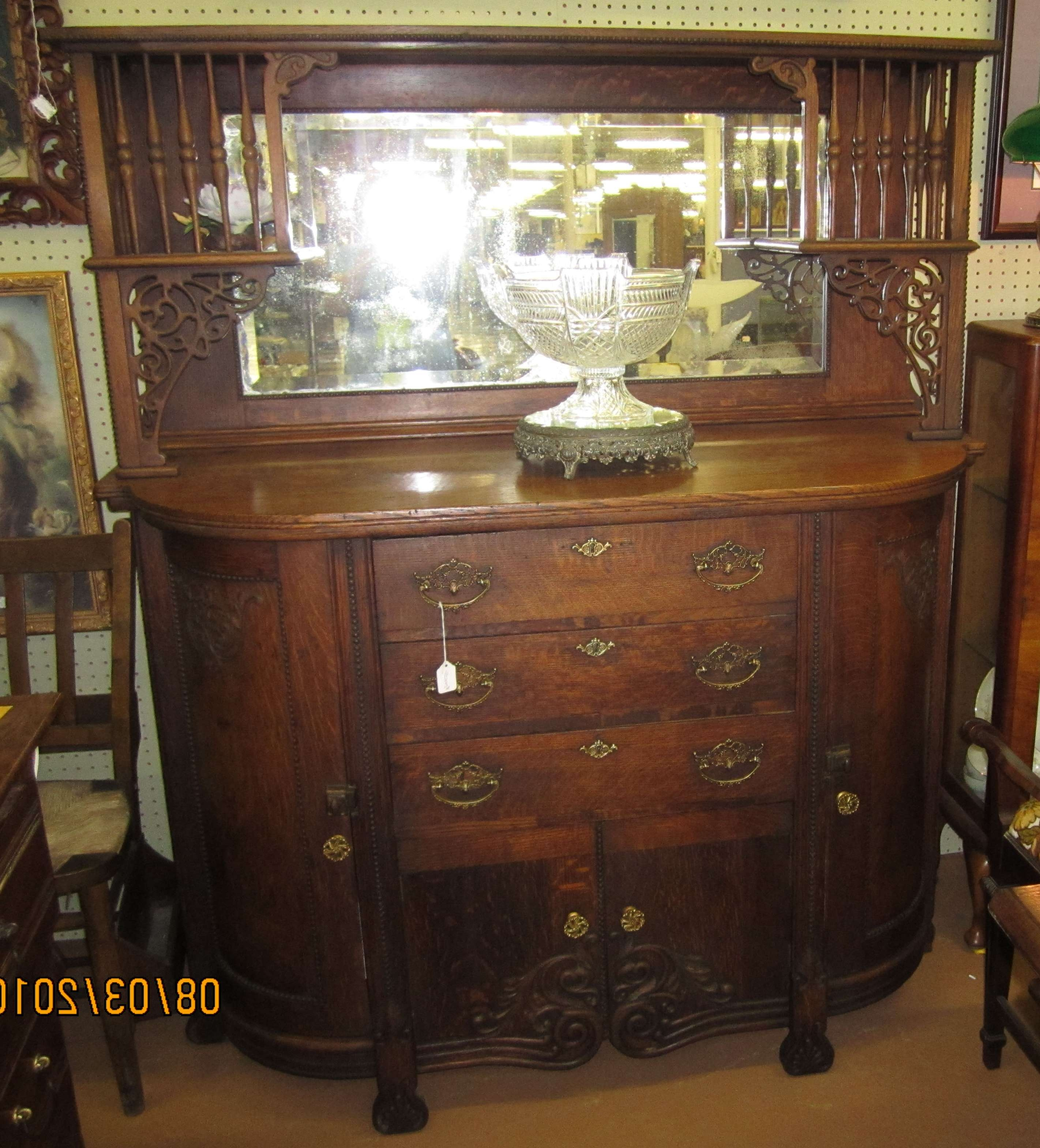 1800's American Oak Sideboard/buffet For Sale | Antiques Within Antique Sideboards Buffets (Gallery 7 of 20)