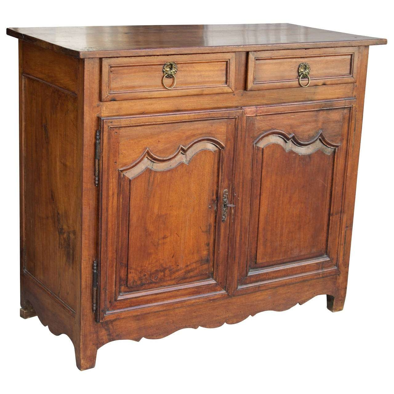 18th Century French Country Louis Xiv Walnut Buffet Or Sideboard In French Sideboards (View 8 of 20)