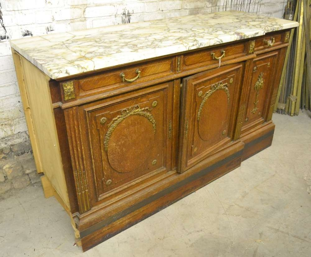 1920s French Marble Top Sideboard | 467207 | Sellingantiques.co (View 9 of 20)