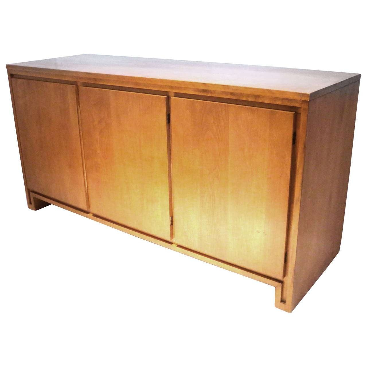 1950S Solid Maple Sideboard Or Credenza Designrussel Wright Within Maple Sideboards (Gallery 5 of 20)