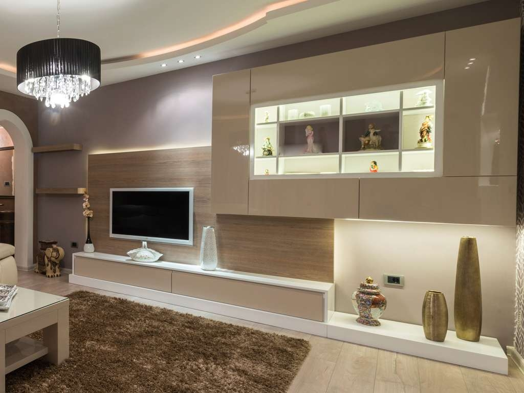2 Bespoke Built In Fitted Tv Units Cabinets Gloss Luxury Modern In Cream High Gloss Tv Cabinets (View 1 of 20)