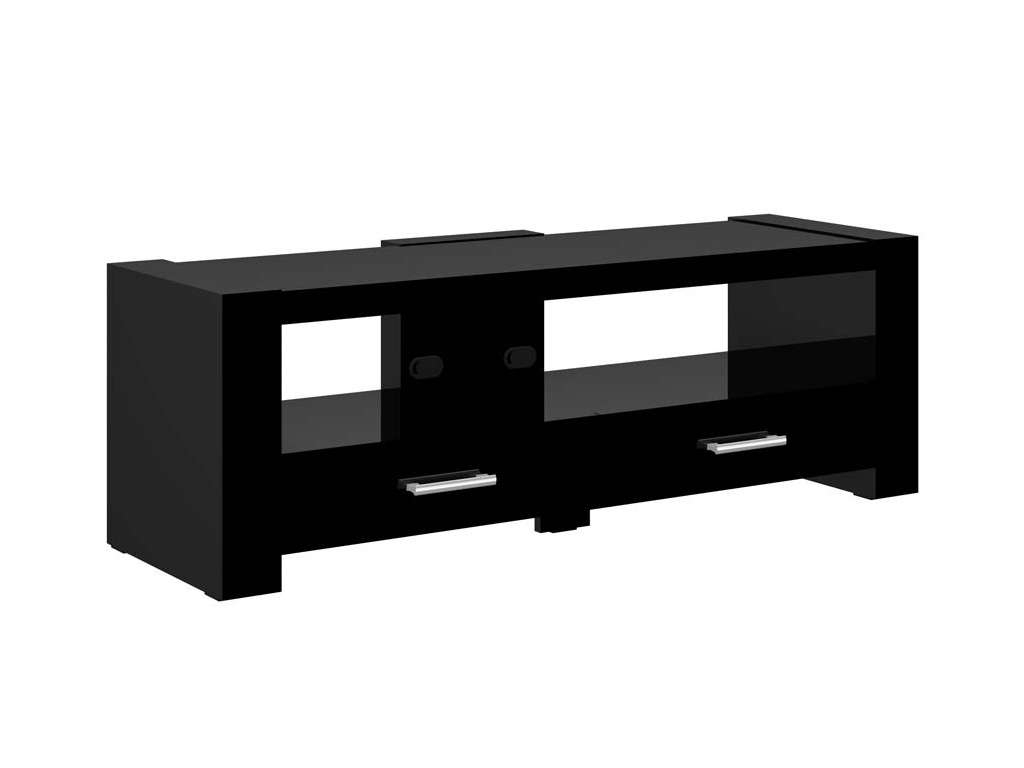 2 Black Tv Stand With Black Tv Cabinets With Drawers (View 2 of 20)