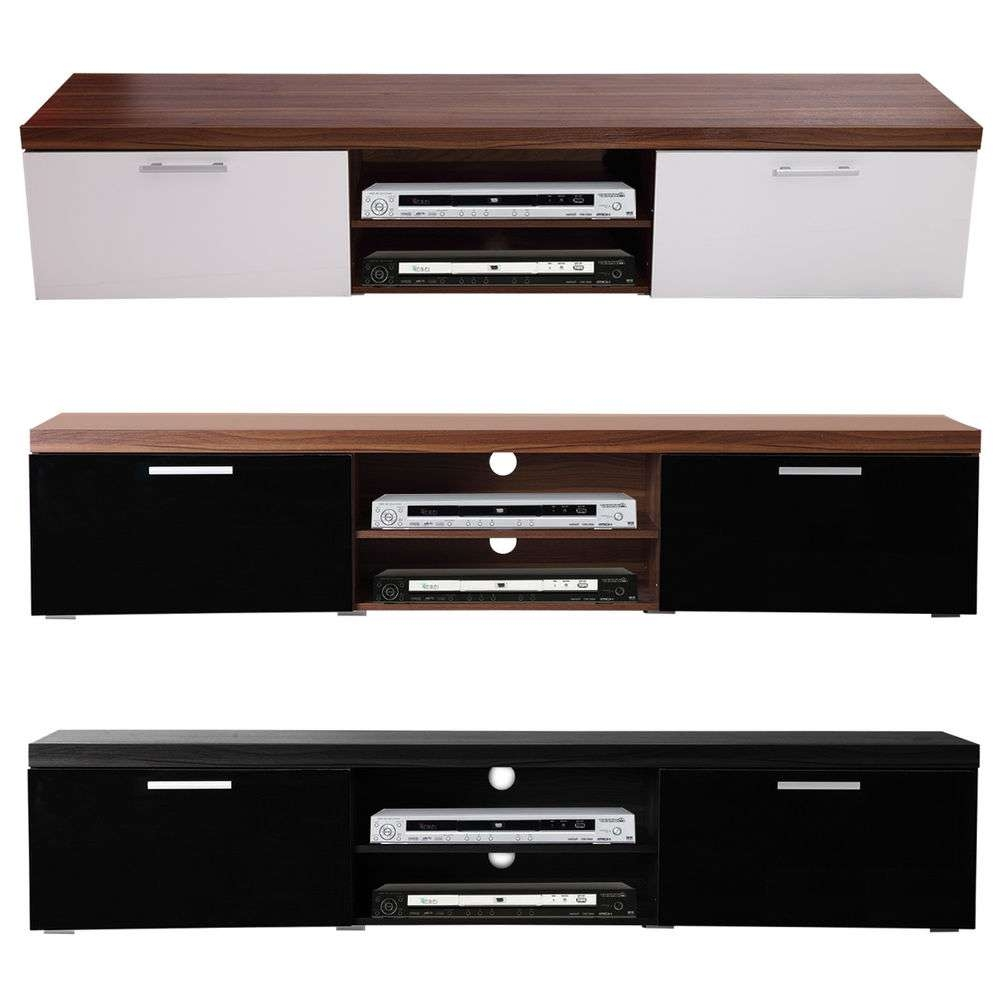 2 Meter Long 2 Door Modern Tv Cabinet Plasma Low Bench Stand Brand In Long Low Tv Cabinets (View 2 of 20)