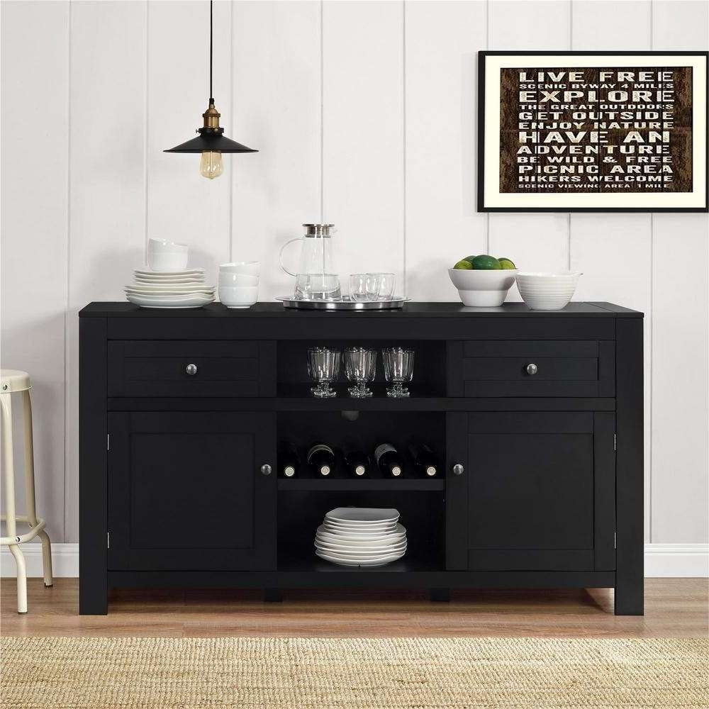 20 Best Black Sideboards And Buffets Intended For Black And Silver Sideboards (View 1 of 20)