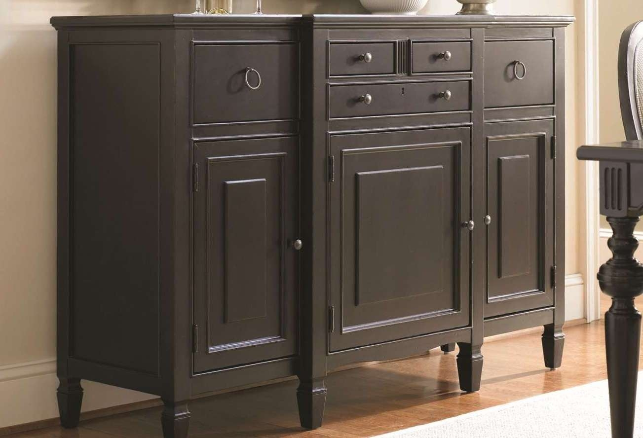 20 Photos Narrow Sideboards And Buffets Inside Black Sideboards Cabinets (View 1 of 20)