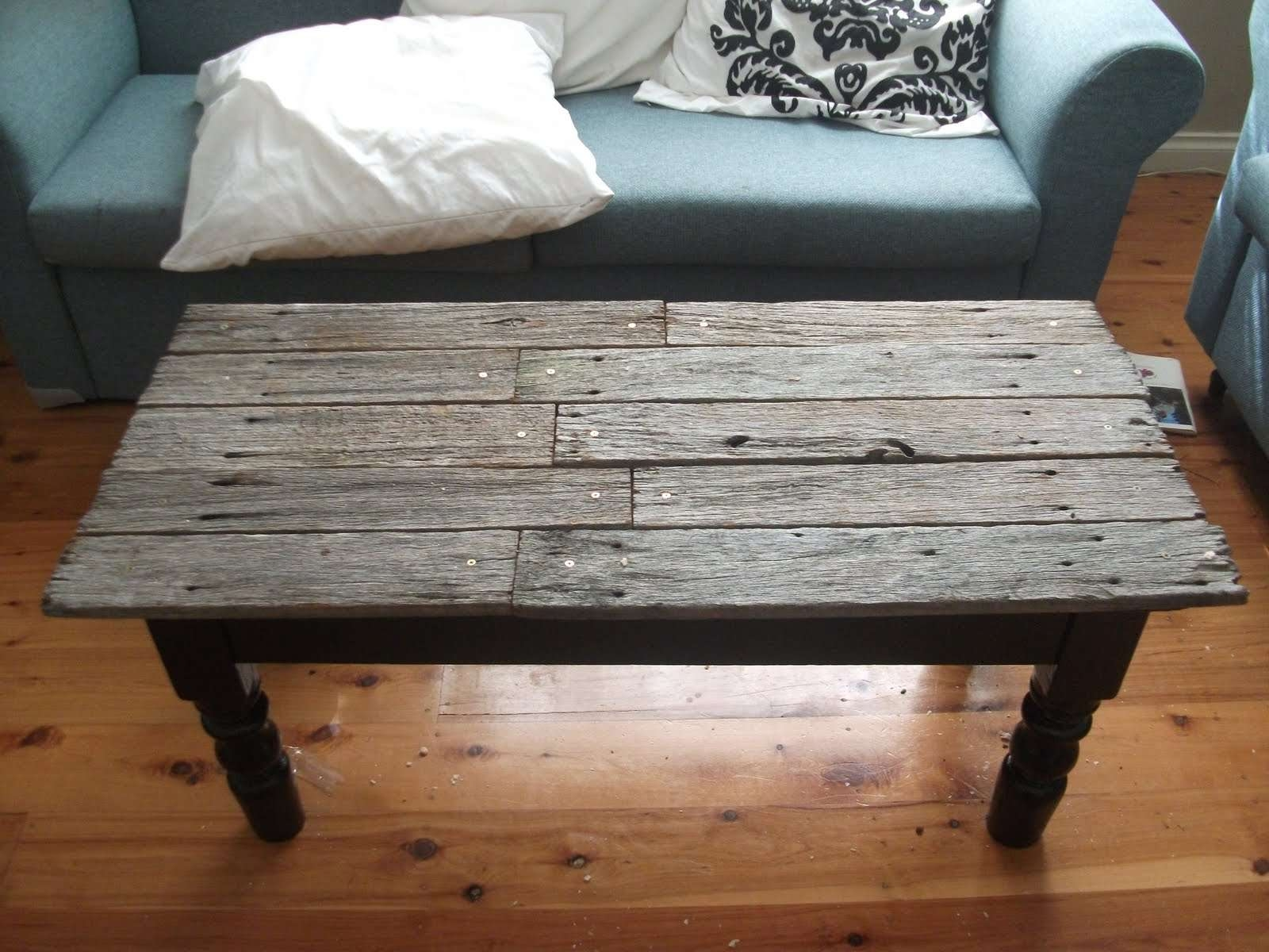 2017 Antique Rustic Coffee Tables Pertaining To Coffee Tables : Vintage Coffee Table With Blue Glass Top Antique (View 2 of 20)