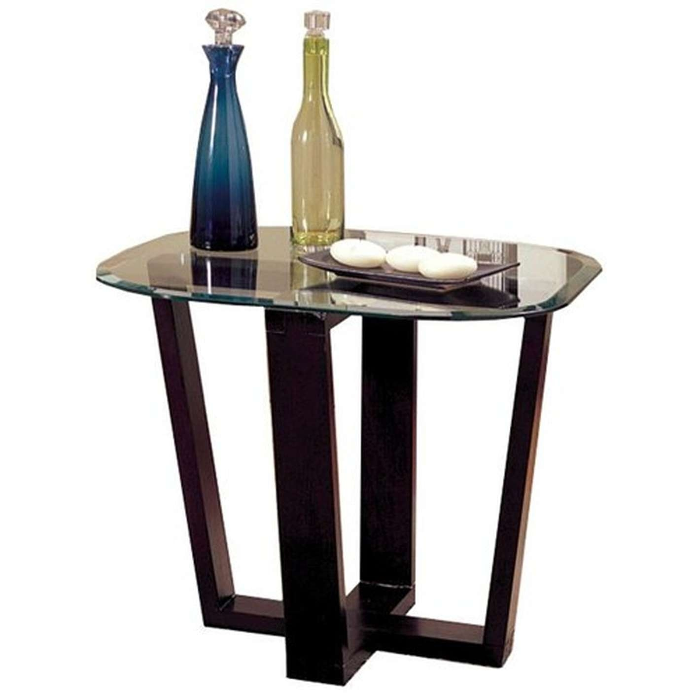 2017 Black Glass Coffee Tables With Regard To Alexis Black Glass Coffee Table Set – Steal A Sofa Furniture (View 20 of 20)