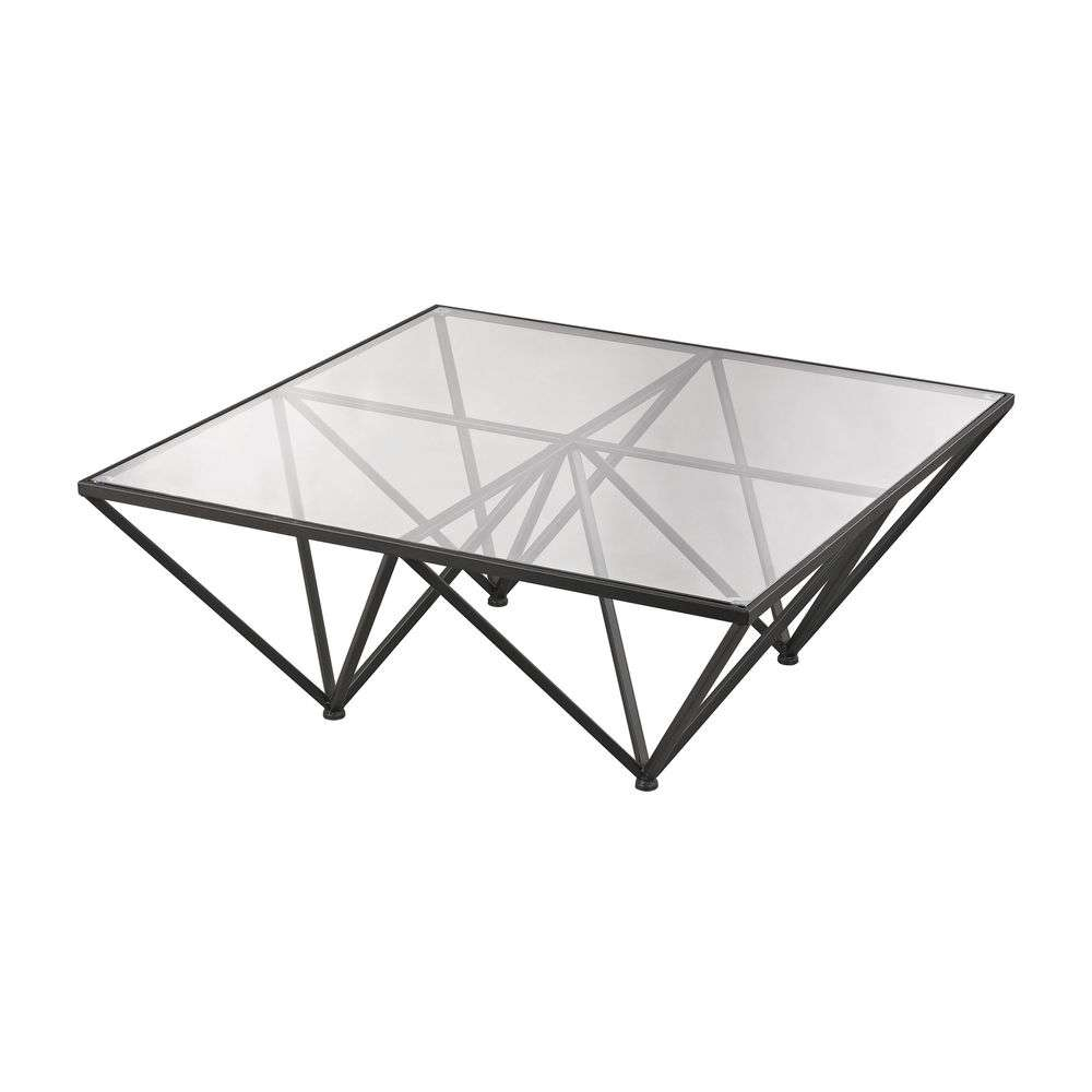 2017 Bronze Coffee Table Glass Top Intended For Geometric Glass Top Coffee Table With Dark Bronze Metal Base (View 2 of 20)