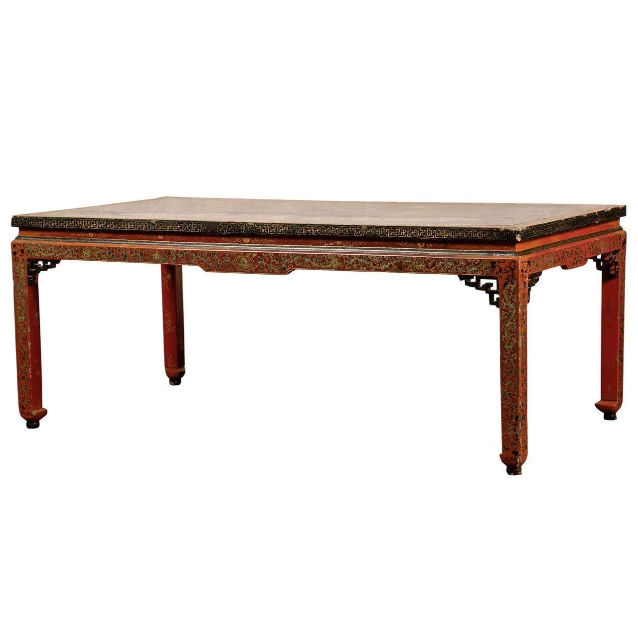 2017 Chinese Coffee Tables In 18th 19th Century Chinese Coffee Table With Leather Top For Sale (View 11 of 20)