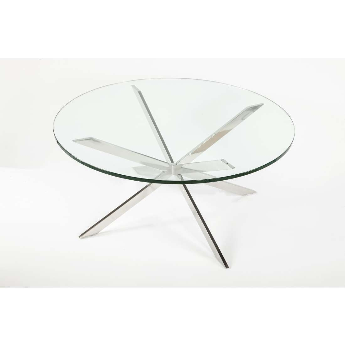 2017 Chrome Coffee Table Bases With Mid Century Modern Reproduction Chrome Star X Base (View 3 of 20)