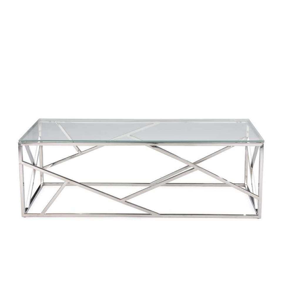 2017 Chrome Coffee Tables Within Coffee Table : Awesome Dark Wood Coffee Table Glass And Chrome (View 2 of 20)