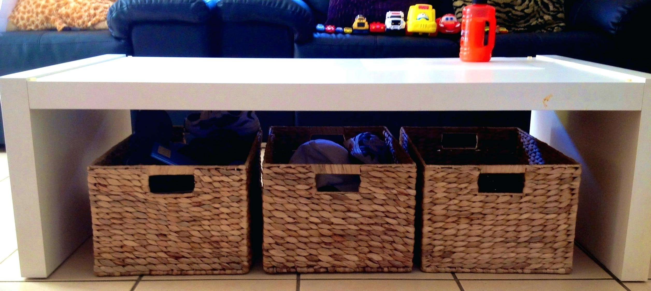 2017 Coffee Tables With Basket Storage Underneath Within Coffee Table: Coffee Table With Baskets (View 2 of 20)
