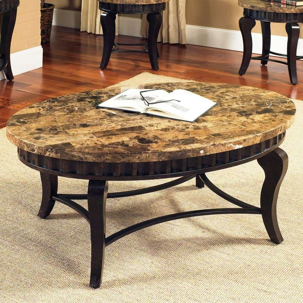 2017 Coffee Tables With Oval Shape With Regard To Coffee Tables : Maple Coffee Table Round Glass Top Oval Wrought (View 8 of 20)