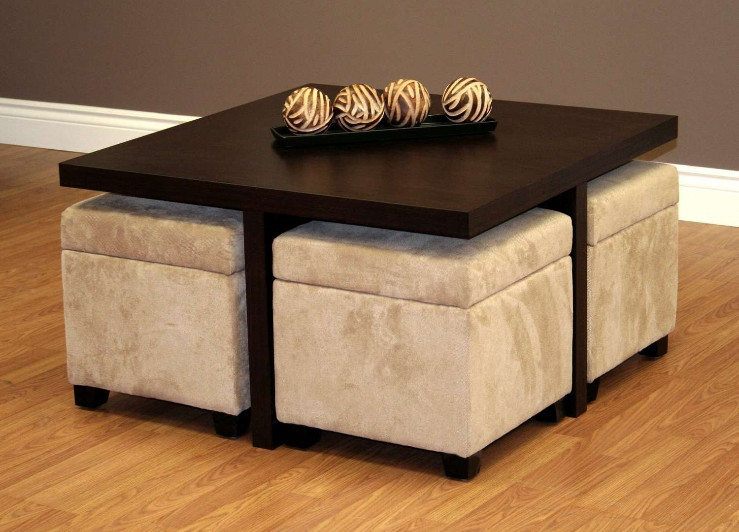 2017 Coffee Tables With Seating And Storage Inside Trends Coffee Table With Ottomans Underneath (View 3 of 20)