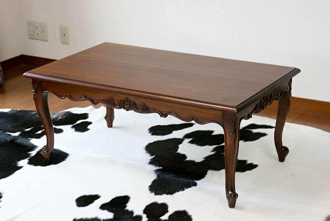 2017 Colonial Coffee Tables Intended For Antique Colonial Coffee Table Replica Mahogany Wood Turning Legs (View 1 of 20)