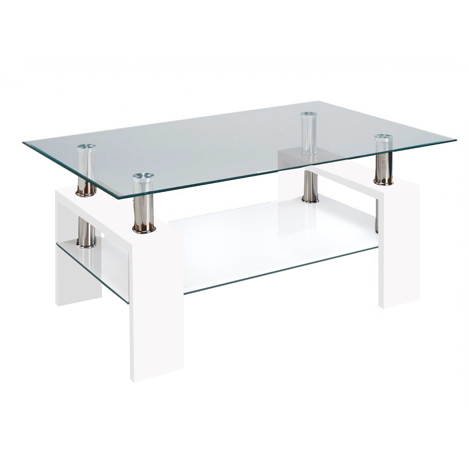 2017 Glass Coffee Table With Shelf Intended For Large Glass Black Glass Coffee Table With Shelf Large Glass Glass (View 2 of 20)