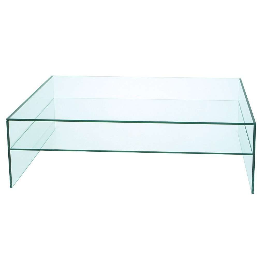 2017 Glass Coffee Table With Shelf Throughout Coffee Tables : Outdoor Glass Coffee Table Rectangle With Top (View 3 of 20)