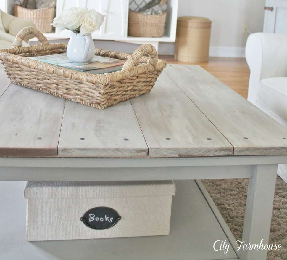 2017 Gray Wash Coffee Tables With Regard To Coffee Tables : Rustic Side Table Whitewash Sofa Wood And Glass (View 1 of 20)