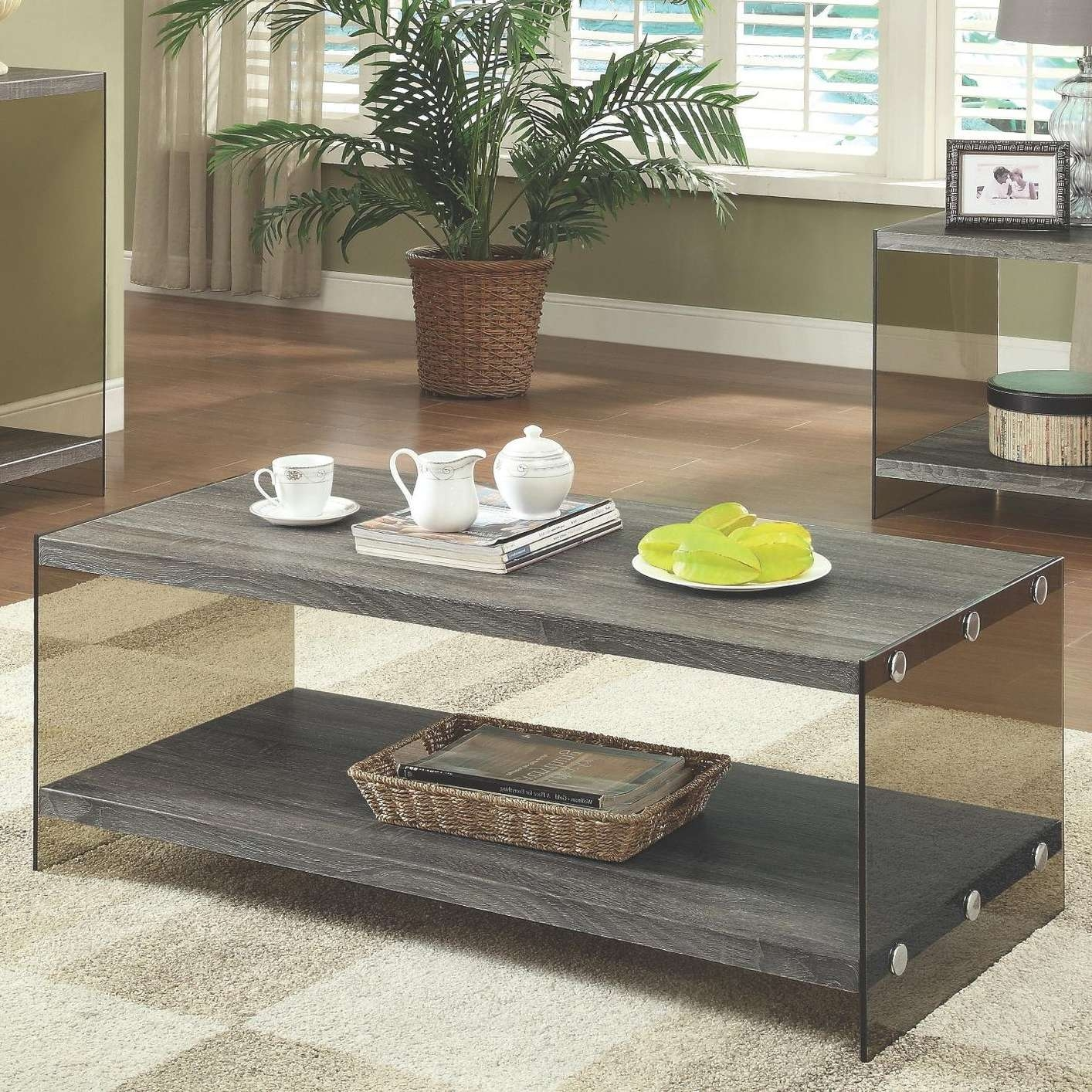 2017 Grey Coffee Table Sets In Grey Glass Coffee Table – Steal A Sofa Furniture Outlet Los Angeles Ca (View 14 of 20)