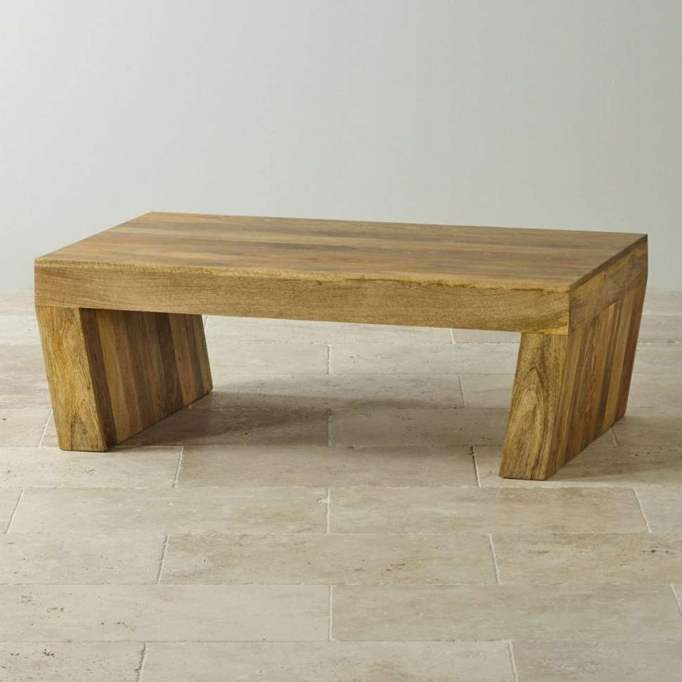 Solid Wood Block Coffee Table: Large Wood Block Coffee Table