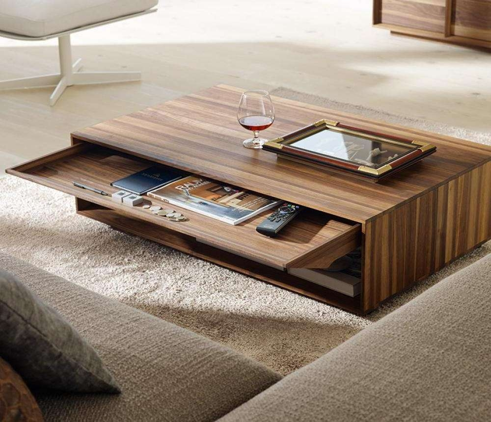 2017 Modern Coffee Table For Awesome Solid Wood Modern Coffee Table Design In Living Room (View 1 of 20)