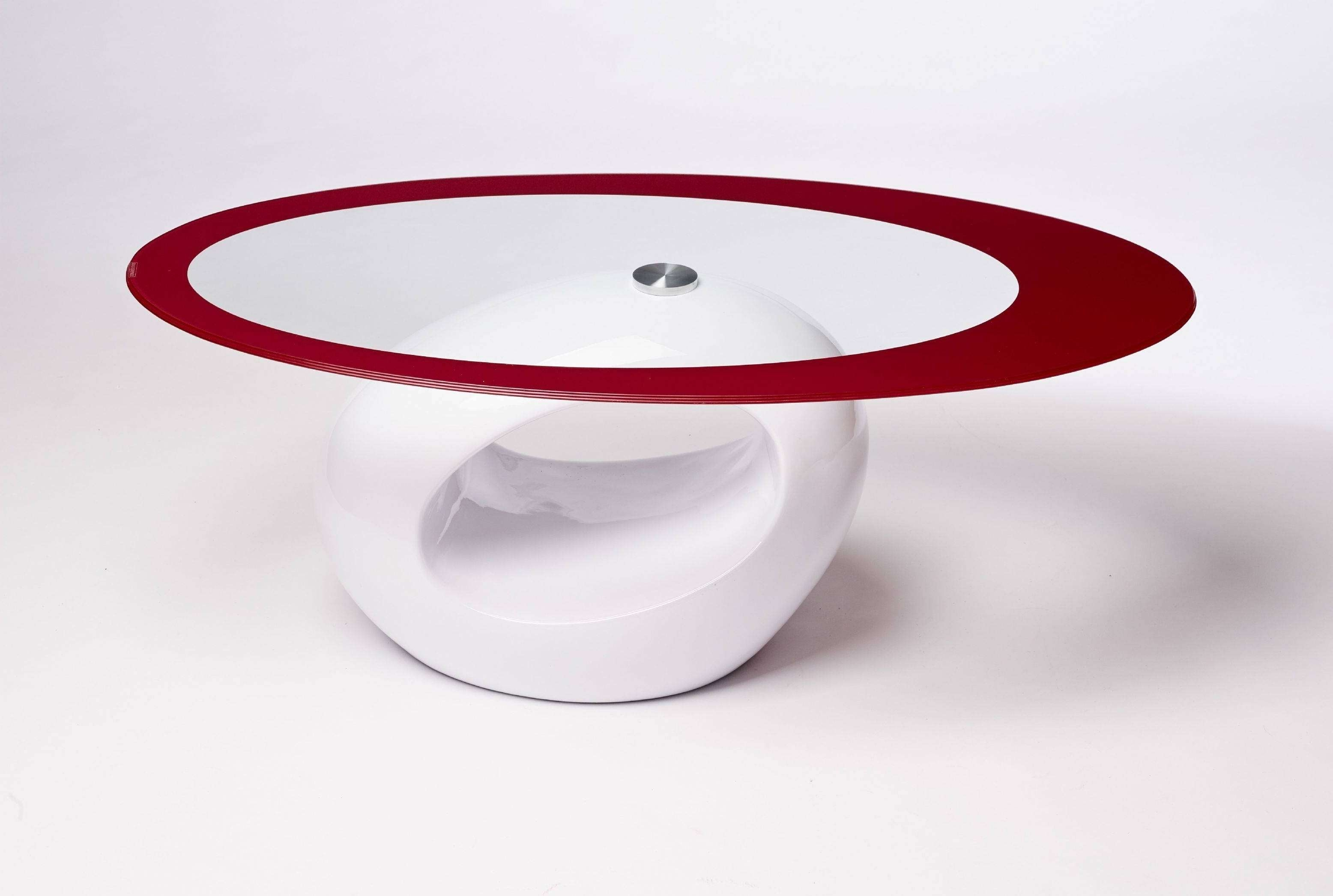 2017 Oval White Coffee Tables Pertaining To 2018 Popular Oval White Coffee Tables With Regard To Red Oval (View 12 of 20)
