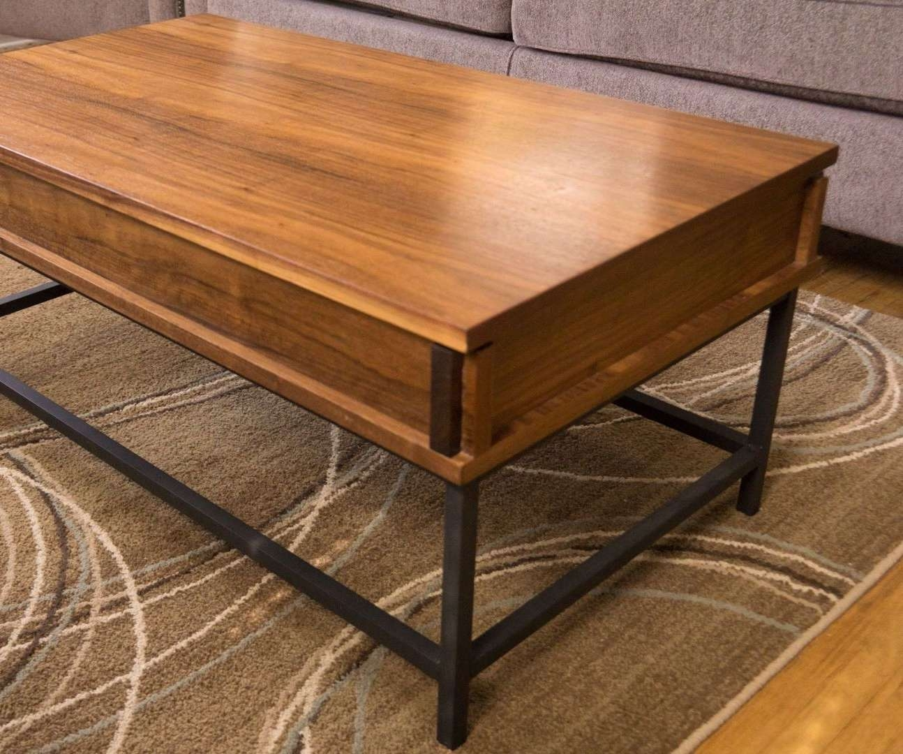 2017 Pop Up Top Coffee Tables Inside Coffee Tables : Hinges Door Pop Up Coffee Table Hardware Diy Lift (View 1 of 20)