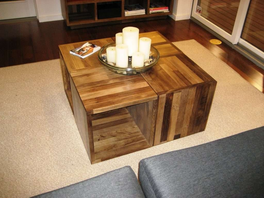 2017 Puzzle Coffee Tables Within Coffee Tables Decor : Coffee Table Cubes Adjustable Crossword (View 10 of 20)
