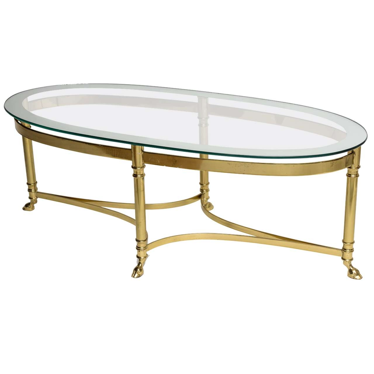 2017 Retro Glass Coffee Tables With Regard To Coffee Tables Ideas: Stunning Glass Oval Coffee Table Living Room (View 9 of 20)