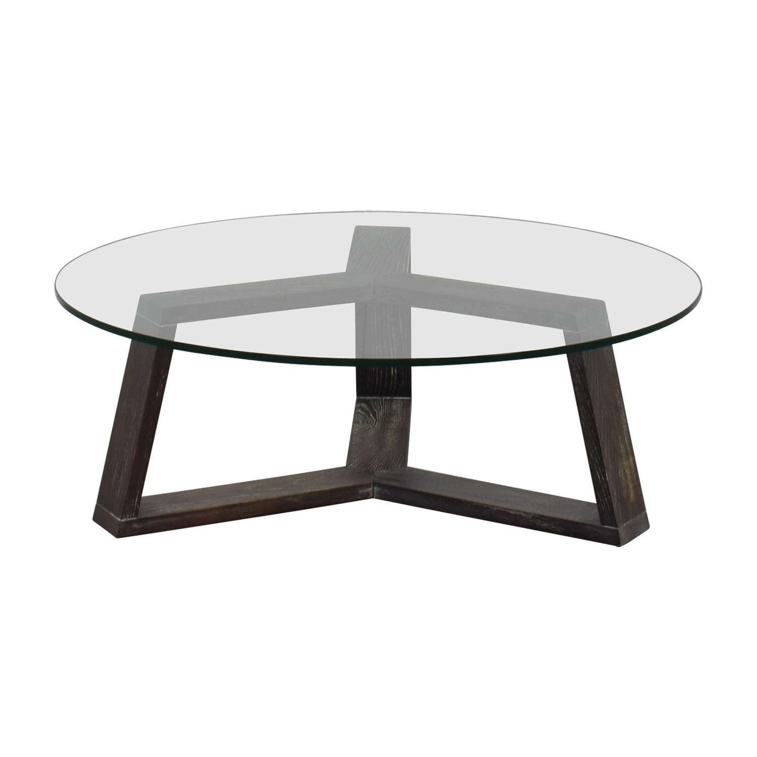 [%2017 Round Glass And Wood Coffee Tables Regarding 44% Off – Cb2 Cb2 Round Glass And Wood Coffee Table / Tables|44% Off – Cb2 Cb2 Round Glass And Wood Coffee Table / Tables Within Most Recently Released Round Glass And Wood Coffee Tables%] (View 1 of 20)