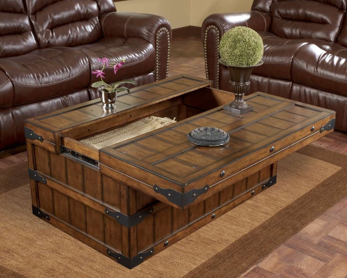 2017 Rustic Square Coffee Table With Storage With Regard To Coffee Tables : Mesmerizing Cool And Classic Unique Coffee Table (View 1 of 20)