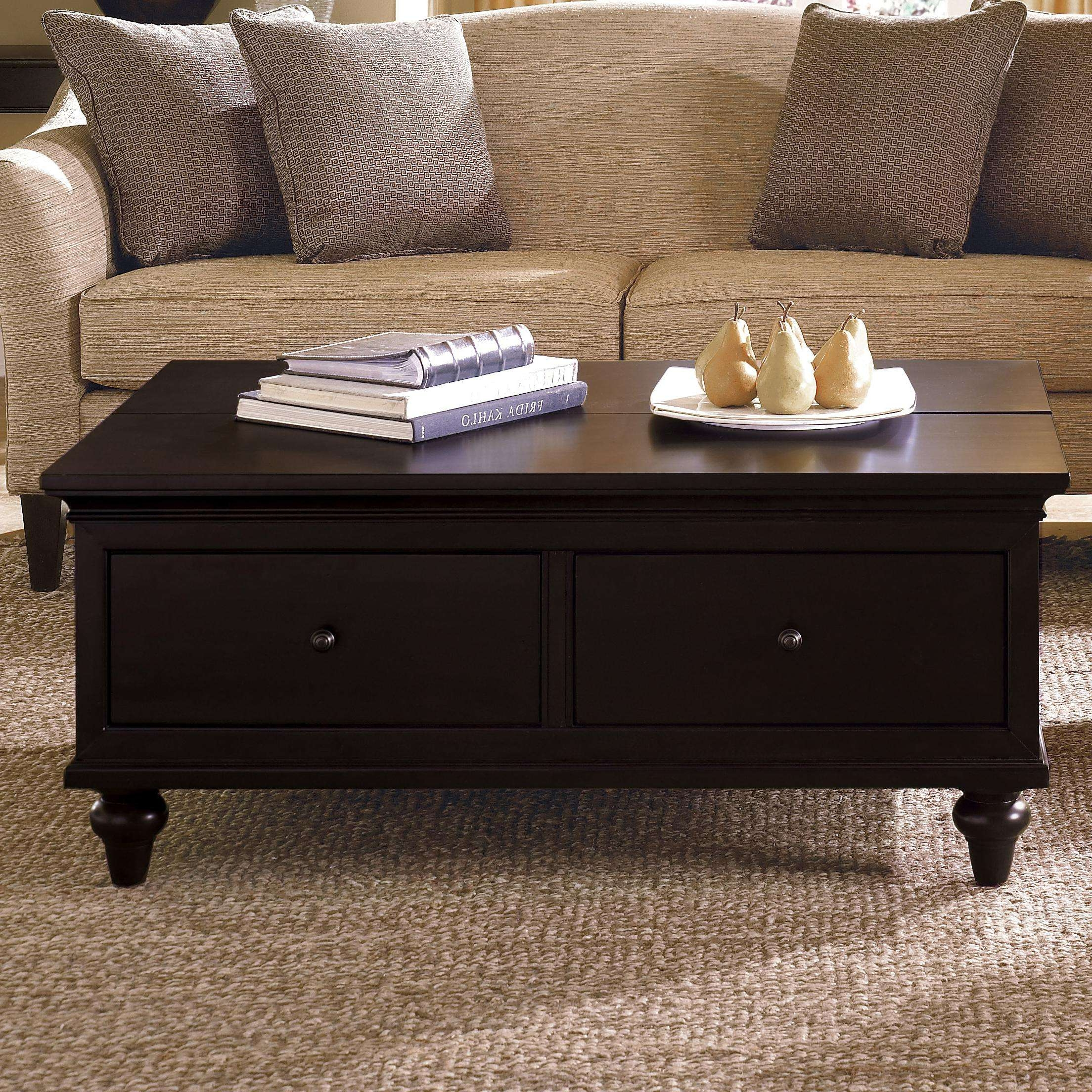 2017 Small Coffee Tables With Drawer Regarding Black Coffee Tables With Drawers • Drawer Ideas (View 1 of 20)