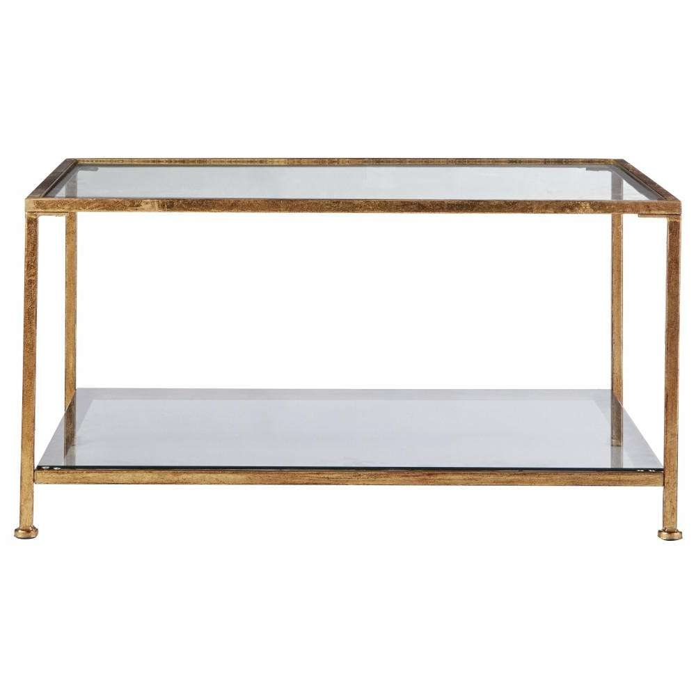 2017 Square Glass Coffee Tables Pertaining To Home Decorators Collection Bella Aged Gold Square Glass Coffee (View 2 of 20)