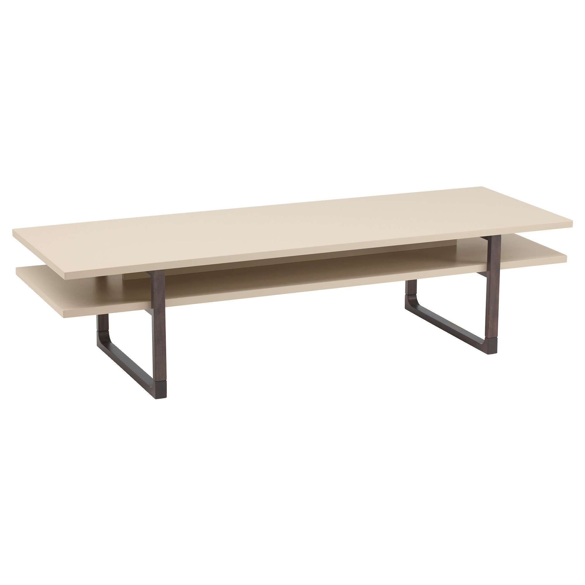 2018 Beige Coffee Tables Throughout Rissna Coffee Table Beige 160X55 Cm – Ikea (View 2 of 20)