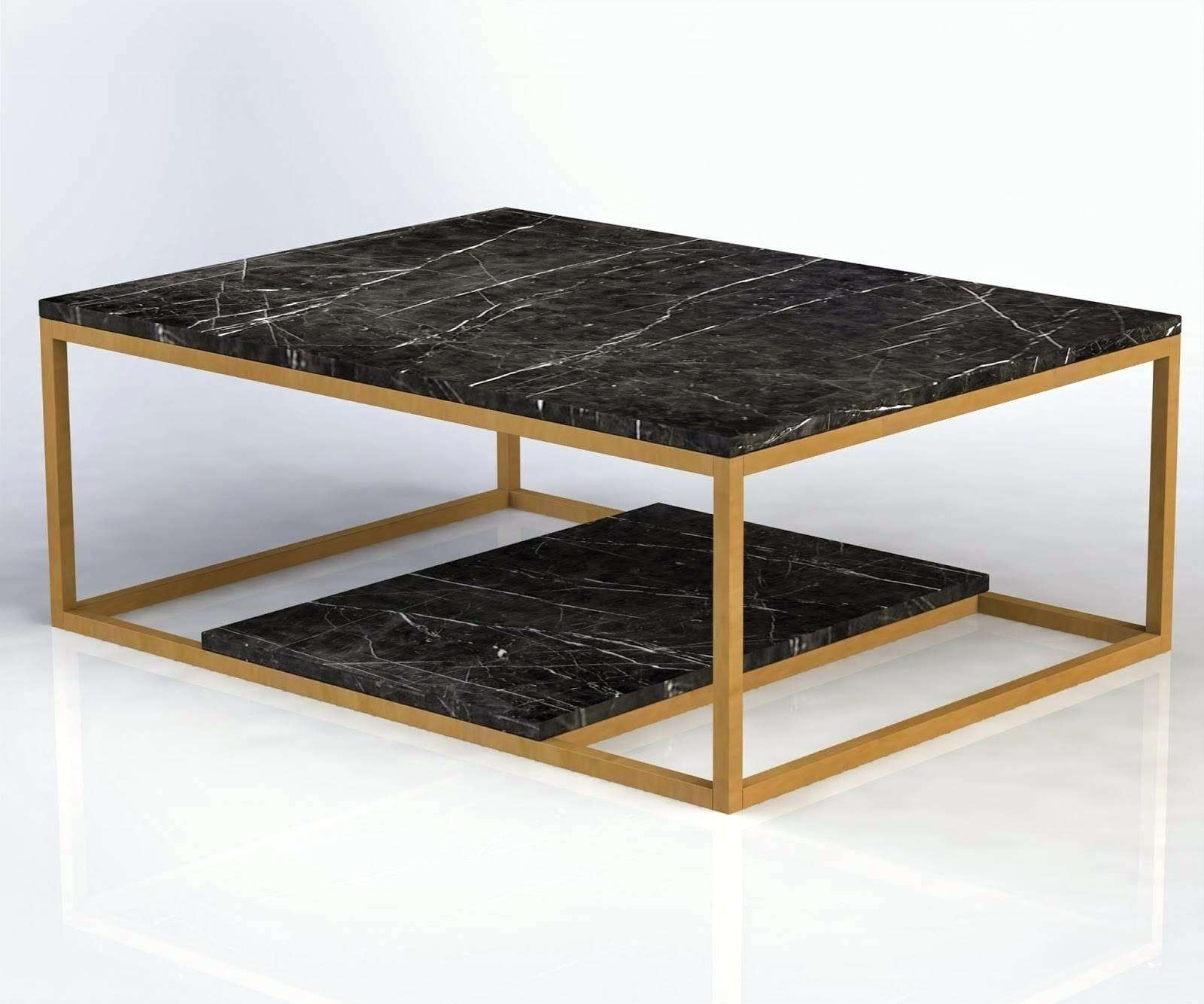 2018 Black And Grey Marble Coffee Tables Inside Black Marble Coffee Table – Akiyo (View 10 of 20)