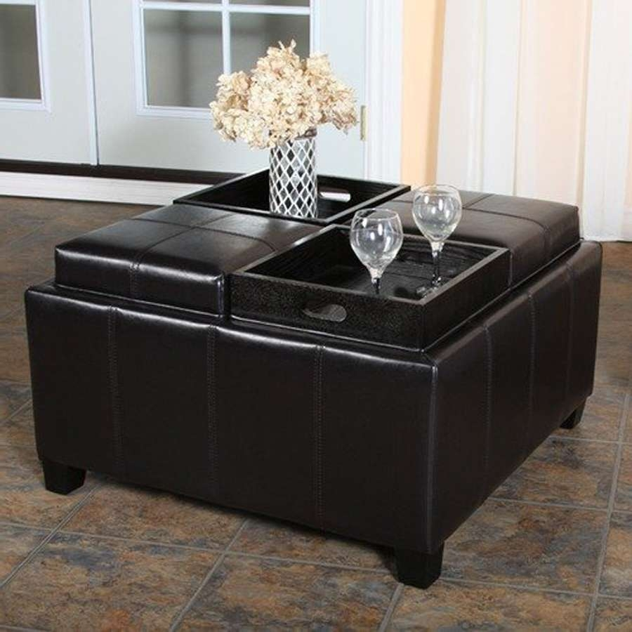 2018 Black Coffee Tables With Storage Within Coffee Tables : Black Stained Small Coffee Tables With Storage (View 1 of 20)
