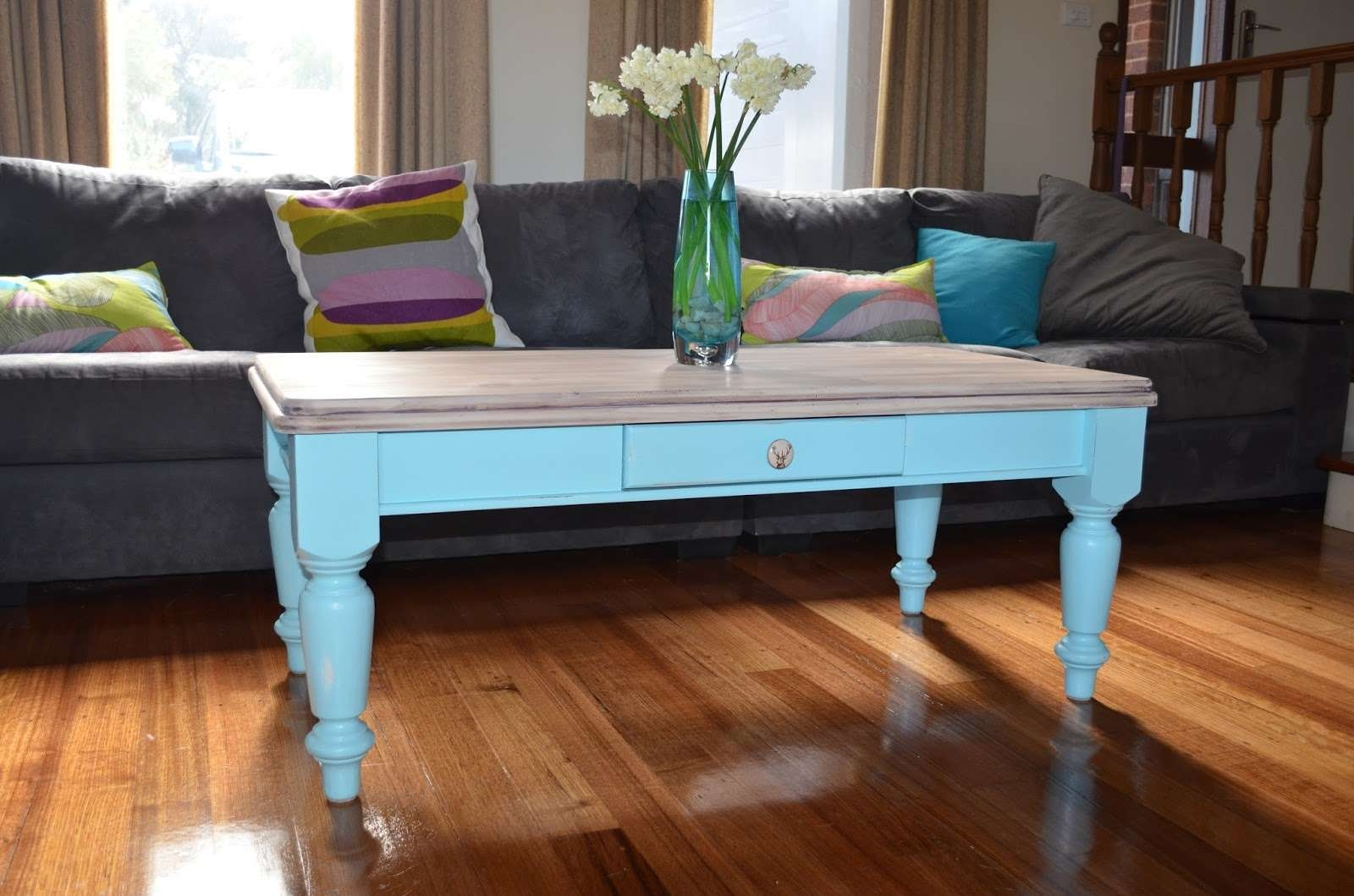 2018 Blue Coffee Tables With Regard To Coffee Table: View In Gallery Blue Coffee Table Blue End Table (View 10 of 20)